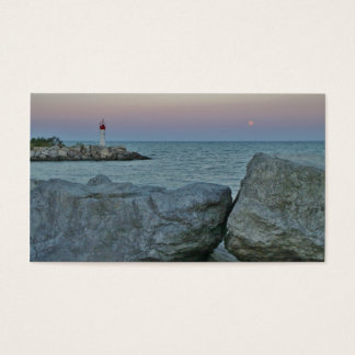 Lighthouse on the Rocky Shore Business Card