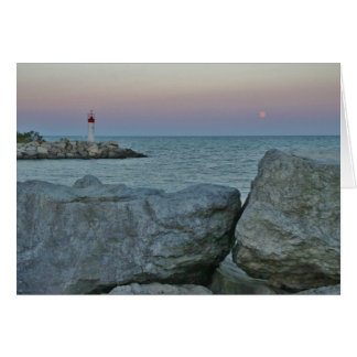 Lighthouse on the Rocky Shore Card