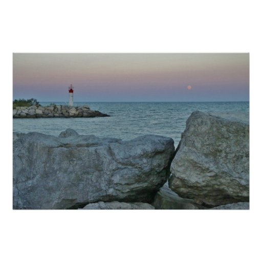 Lighthouse on the Rocky Shore Poster