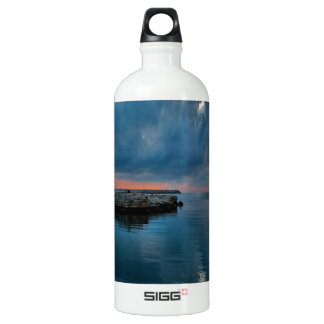 Lighthouse on Water Aluminum Water Bottle
