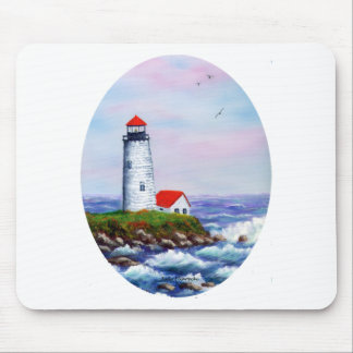 lighthouse oval mouse pad