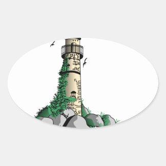 Lighthouse Oval Sticker