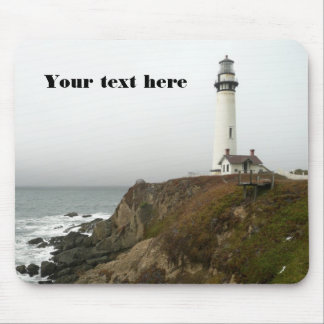 Lighthouse Overlooking the Ocean Mouse Pad