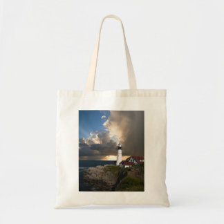 Lighthouse Overlooking the Ocean Tote Bag