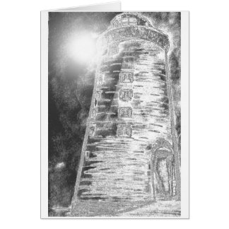 Lighthouse Painting Greeting Card
