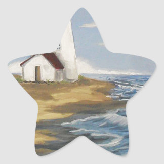 Lighthouse Painting Star Sticker