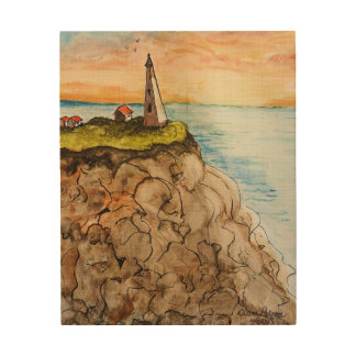 Lighthouse Painting Wood Wall Decor