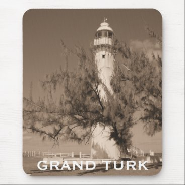 Lighthouse Photo Grand Turk Caribbean Island Mouse Pad