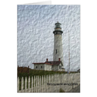 Lighthouse Photo-Painting Stationery Note Card
