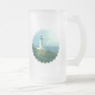 Lighthouse Photos Frosted Beer Mug