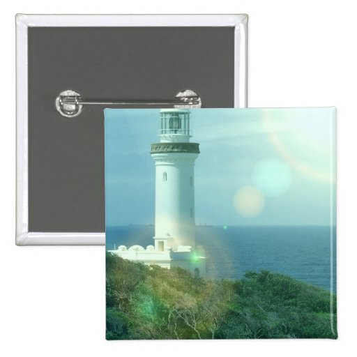 Lighthouse Photos Square Pin