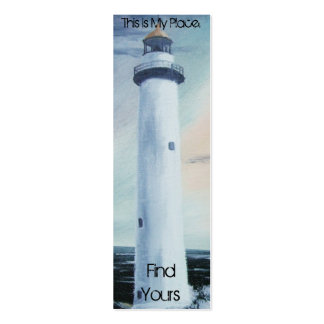 Lighthouse Place Bookmark 2 Double-Sided Mini Business Cards (Pack Of 20)