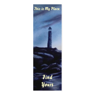 Lighthouse Place Bookmark 4 Double-Sided Mini Business Cards (Pack Of 20)