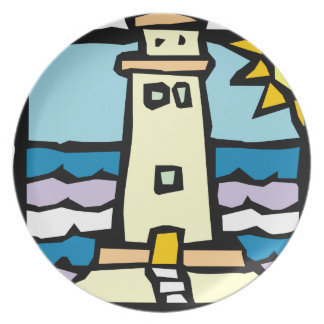 Lighthouse Dinner Plates