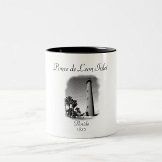 Lighthouse- Ponce de Leon Inlet, Florida Two-Tone Coffee Mug