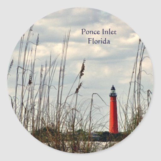 Lighthouse - Ponce Inlet, Florida Classic Round Sticker