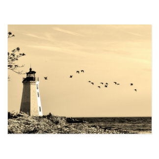 Lighthouse postcard - Bridgeport, CT