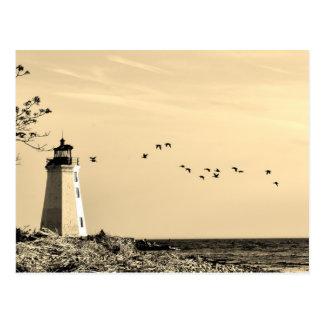 Lighthouse postcard - Bridgeport, CT