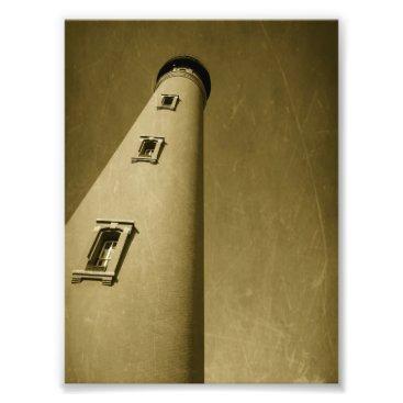 Beach Themed Lighthouse Potograph Photo Print