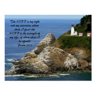 LIGHTHOUSE Psalm 27:1 Postcard