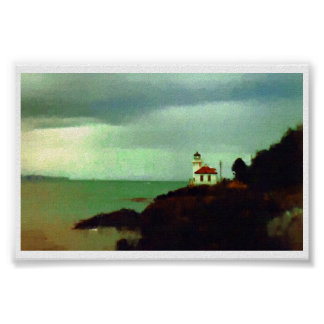 Lighthouse Puget Sound Washington Poster