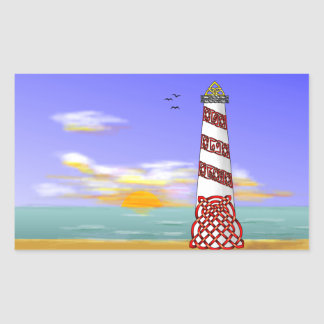 Lighthouse Rectangular Sticker