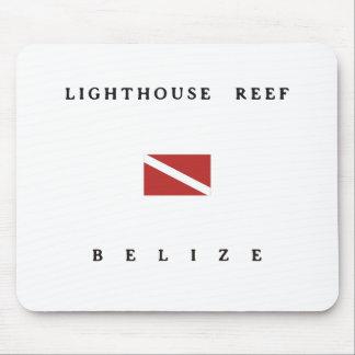 Lighthouse Reef Belize Scuba Dive Flag Mousepads