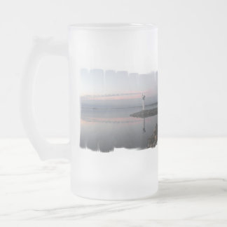 Lighthouse Reflections Frosted Beer Mug