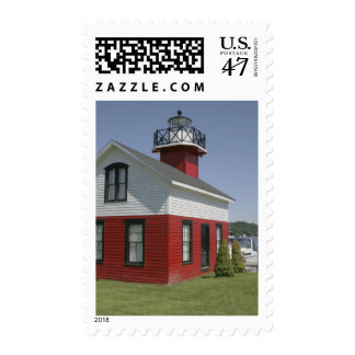 Lighthouse relocated shore in Douglas near 2 Postage Stamp