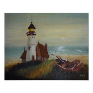 Lighthouse Retreat Posters