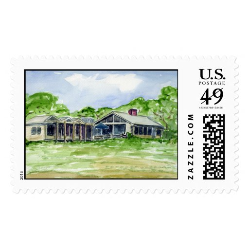Lighthouse Road House by Arnold Zack Postage Stamps