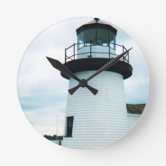 Lighthouse Round Clock