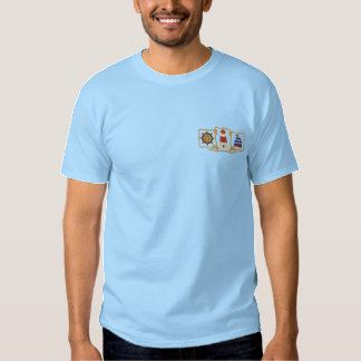 Lighthouse & Sailboat Embroidered T-Shirt