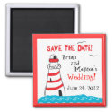 Lighthouse Save the Date Magnet magnet