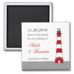 Lighthouse Save The Date Magnet