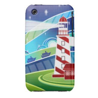 Lighthouse Scene iPhone 3 Case