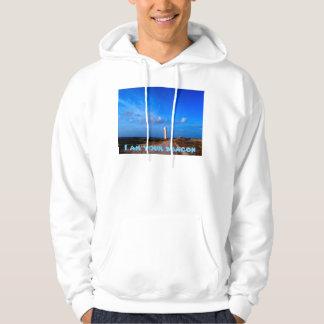 Lighthouse Scenery Basic Hooded Sweatshirt, White Sweatshirt