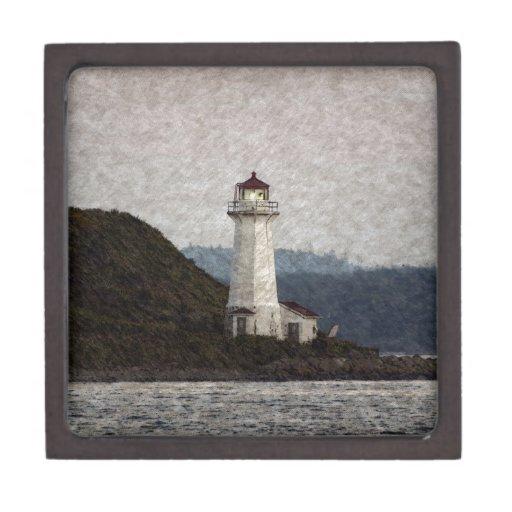 Lighthouse Scenic Art Premium Trinket Boxes