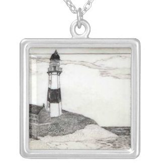 Lighthouse Scrimshaw Necklace