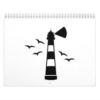 Lighthouse sea gulls calendar