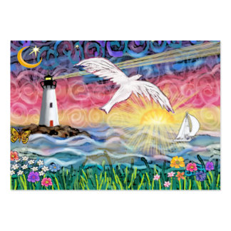 Lighthouse & Seagull Large Business Card
