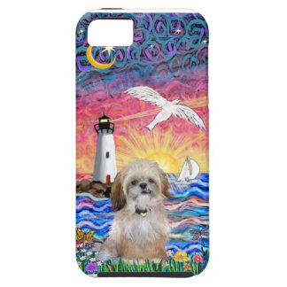 Lighthouse & Seagull - Shih Tzu (P) iPhone 5 Cases