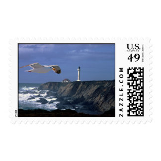 Lighthouse & Seagull Stamps