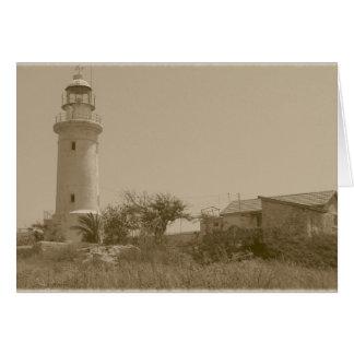Lighthouse (sepia) card