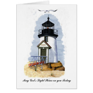 Lighthouse Shine on you Today Card
