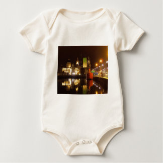 Lighthouse Ship & Liver Buildings, Liverpool UK Baby Bodysuit