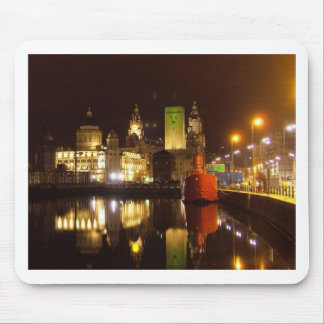 Lighthouse Ship & Liver Buildings, Liverpool UK Mouse Pad