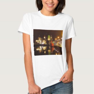 Lighthouse Ship & Liver Buildings, Liverpool UK T-shirt
