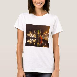 Lighthouse Ship & Liver Buildings, Liverpool UK T-Shirt