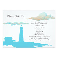 Lighthouse shower invitation